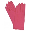 Nylon Gloves With Snap Hot Pink